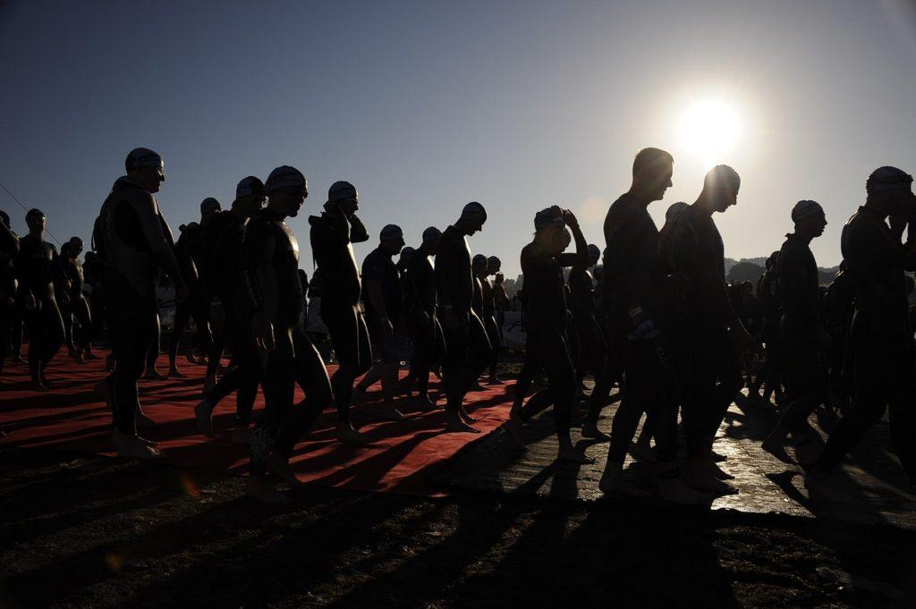 Des membres de l'équipe sénégalaise de triathlon à l'Ironman de Nice 2021